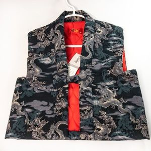 NWT Child's Quilted Dragon Vest - Jinbaori Style